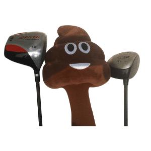 Golf Poop Emoji Cover