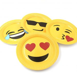 Party Plates Emoji 40 Pack