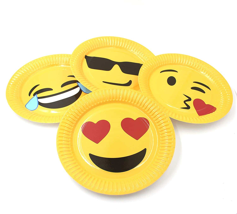 95a0f4e000 Emoji Party Plates (40 Pack) - Emoji Galore