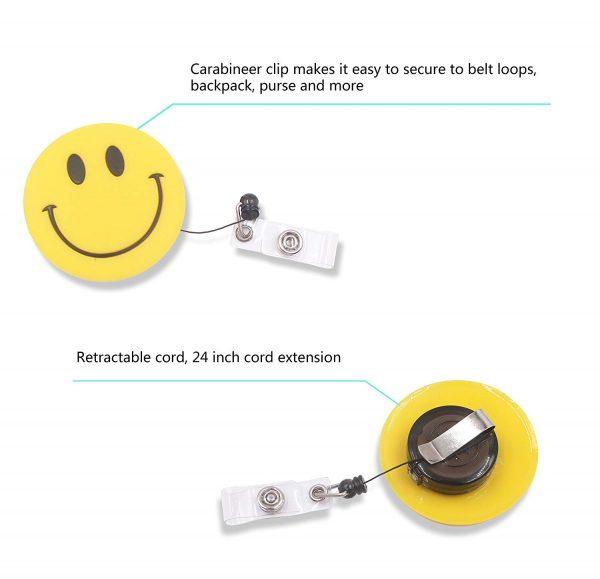 Retractable Badger Holder Emoji