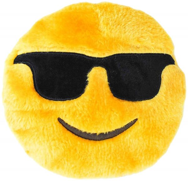 Sunglasses Smiling Plush Dog Toy