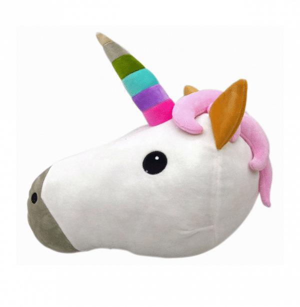 Unicorn Emoji Plush Pillow