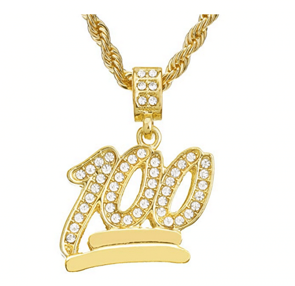 Emoji 100 Gold Chain
