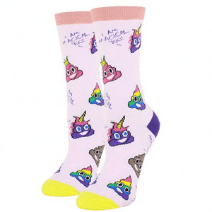 Emoji Unicorn Poop Socks
