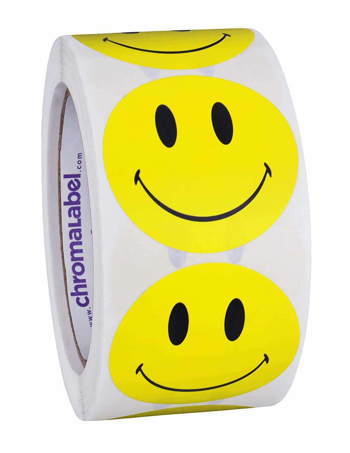 Smiley face sticker roll