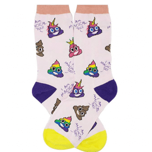 Unicorn Poop Emoji Socks