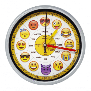 Education Emoji Wall Clock