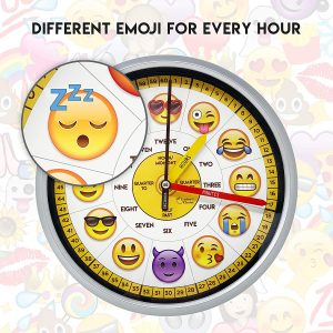 Educational Emoji Wall Clock