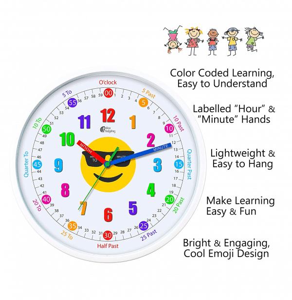 Emoji Educational Clock Features