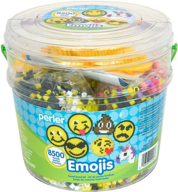 Emoji Perler Beads Bucket