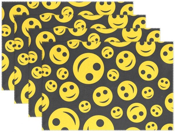 Emoji Placemats Table