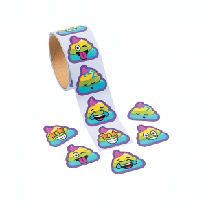 Emoji Rainbow Poop Stickers