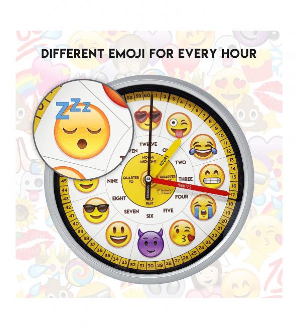 Emoji Teaching Wall Clock