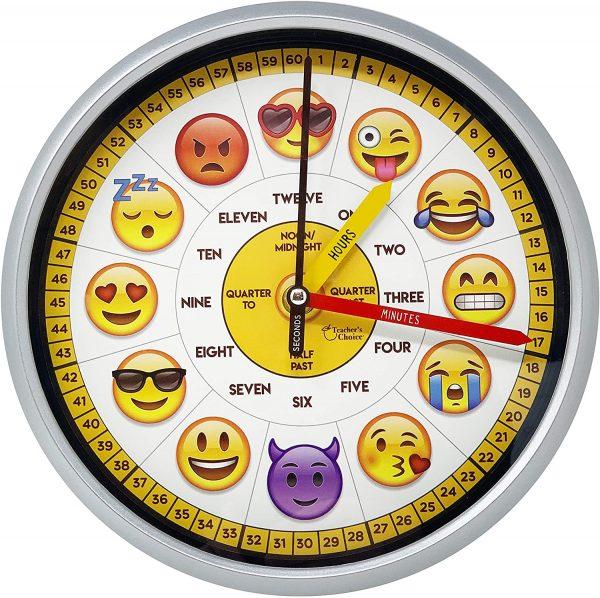 Educational Emoji Wall Clock
