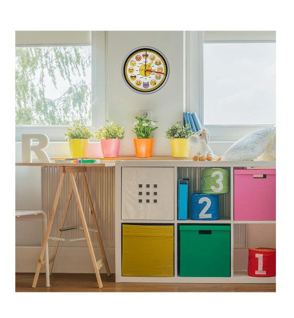 School Emoji Education Wall Clock