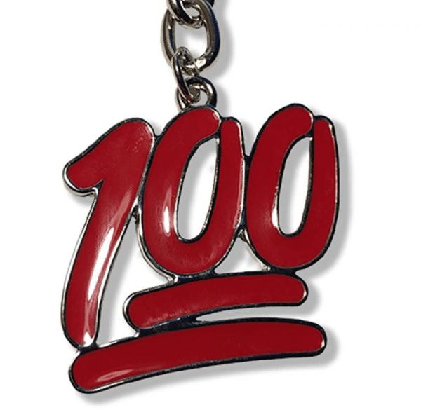 100 Emoji Keychain