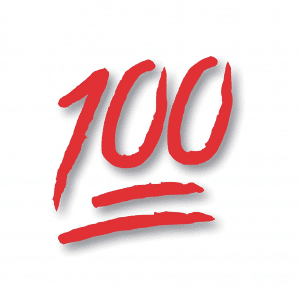 100 Emoji Sticker Decal