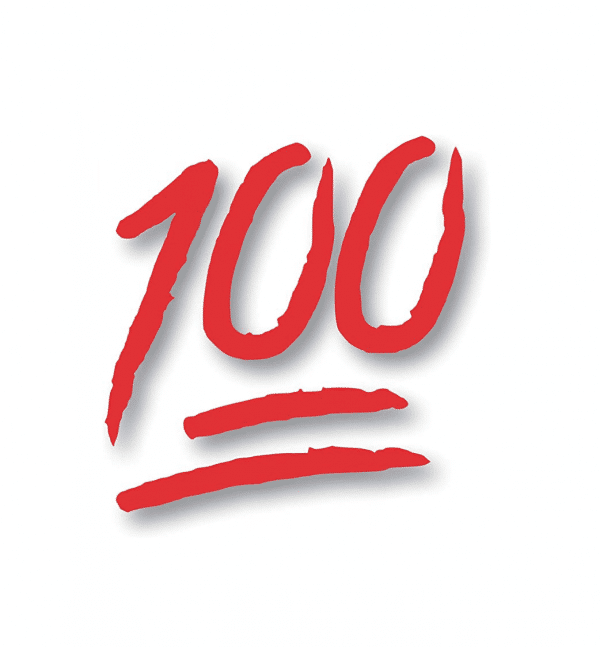 100 Emoji Sticker Decal