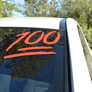 100 Emoji Sticker Decal Car