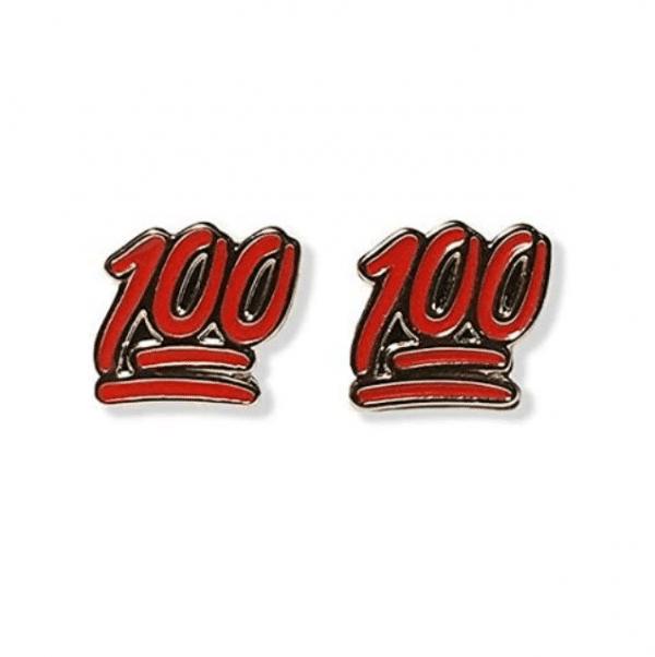 100 Emoji Stud Earrings