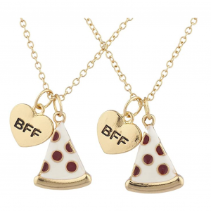 BFF Best Friends Pizza Emoji Necklace