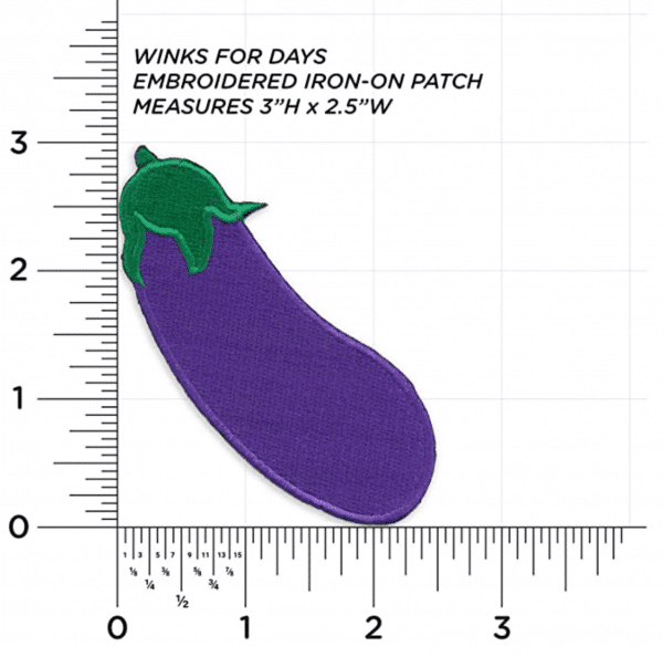 Eggplant Emoji Iron Patch Sizes