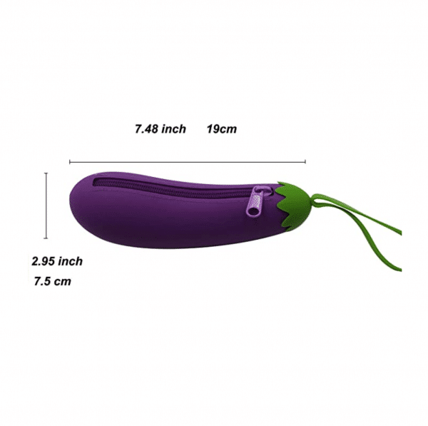 Eggplant Zipper Case