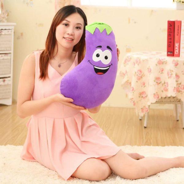 Emoji Eggplant House Pillow