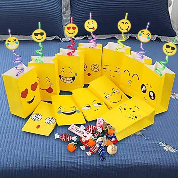 Emoji Straws Party Favors
