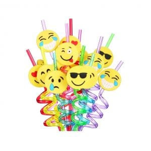 Emoji Straws Reusable