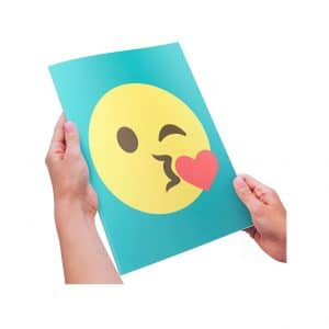 Extra Large Kiss Emoji Greeting Card