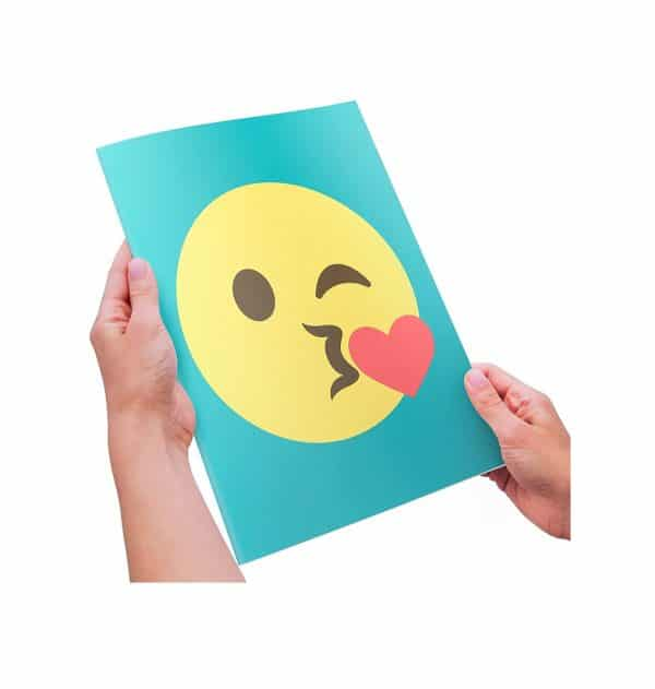 Extra Large Kiss Emoji Greeting Card