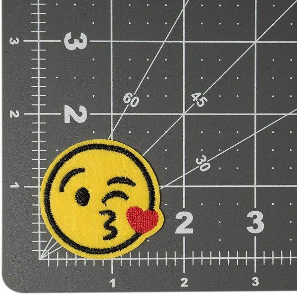 Iron On Patch Kiss Emoji