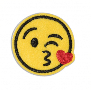 Kiss Emoji Iron Patch