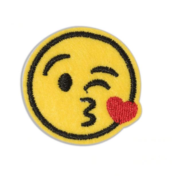 Kiss Emoji Iron Patch
