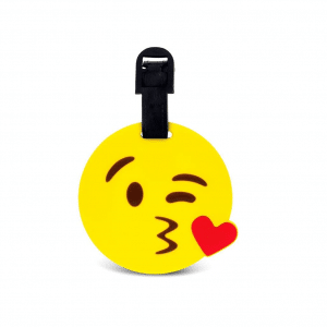 Kiss Emoji Luggage Tags