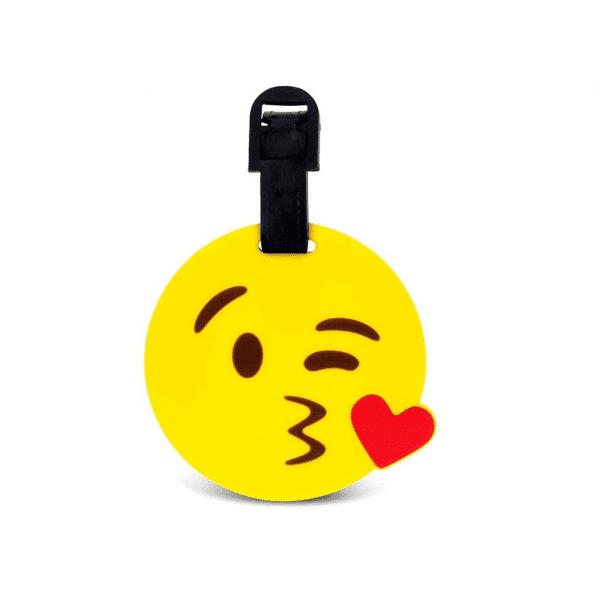 Kiss Emoji Luggage Tags
