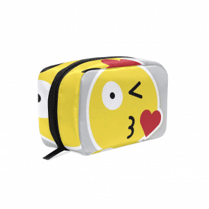 Kiss Emoji Makeup Bag