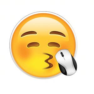 Kiss Emoji Mousepad
