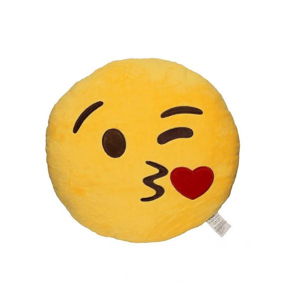 Kiss Emoji Pillow