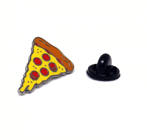 Lapel Pin Pizza Emoji Skull Edition