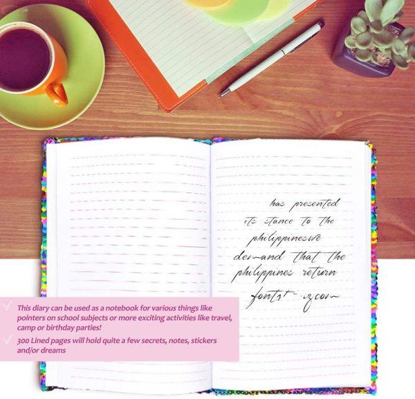 Inside Unicorn Sequin Journal