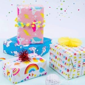 Unicorn Emoji Gift Wrap