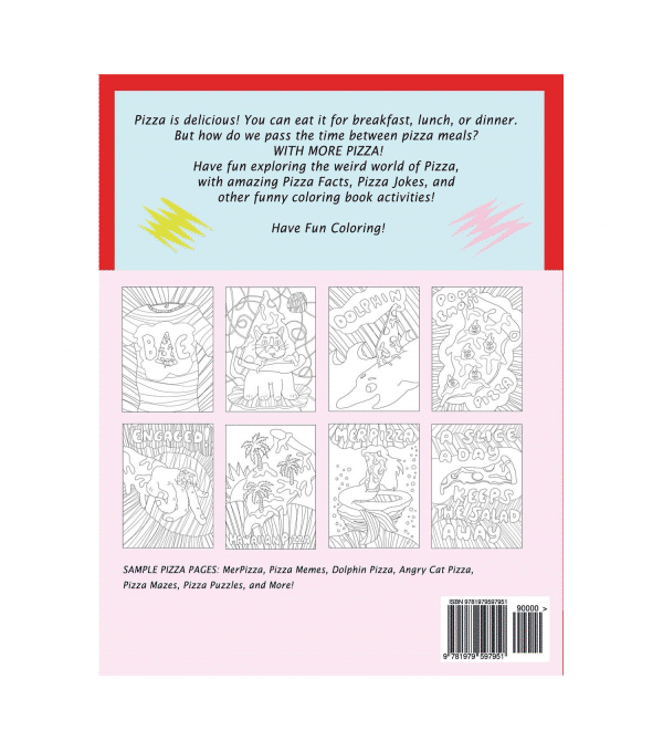 Activity Book Emoji Pizza Style