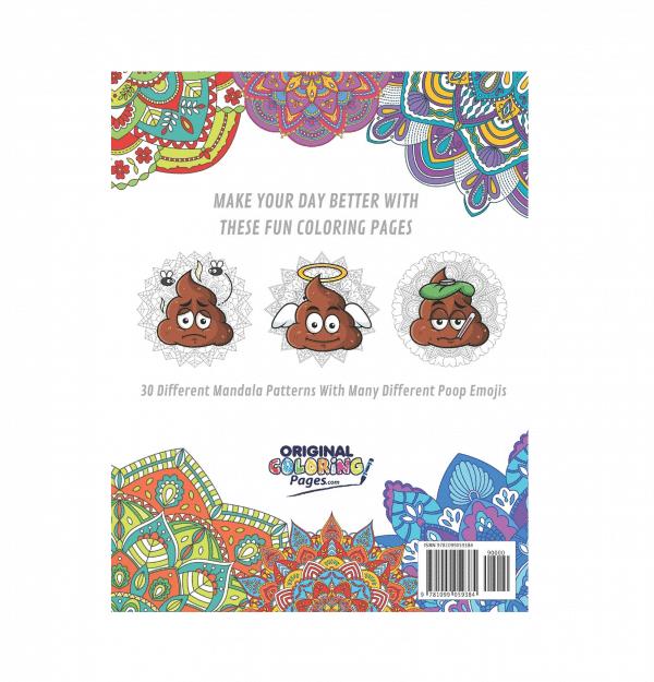 Back Cover Poop Emoji Coloring Book
