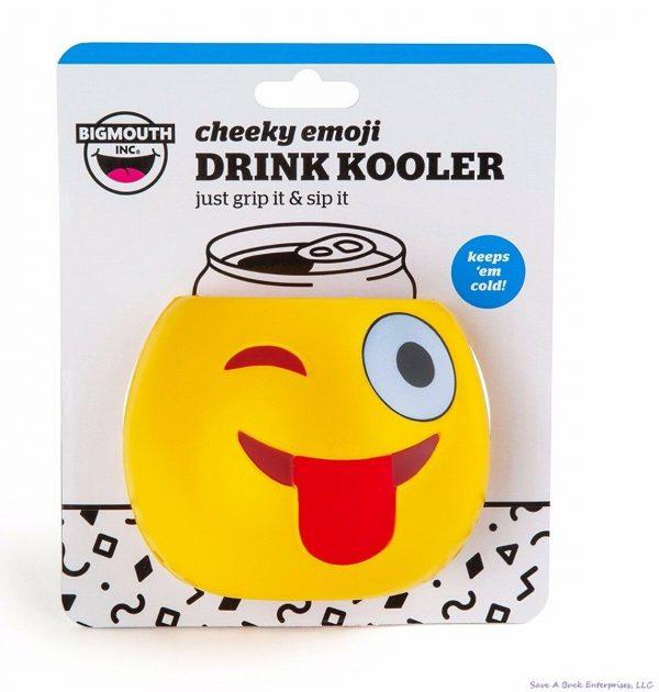 Cheeky Emoji Wink Tongue Drinker Kooler