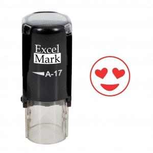 Heart Eyes Emoji Red Stamp