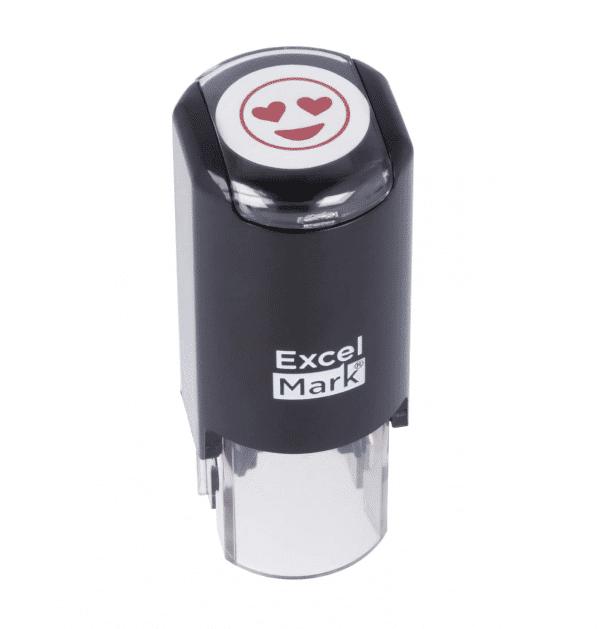 Ink Stamp Heart Eyes Emoji