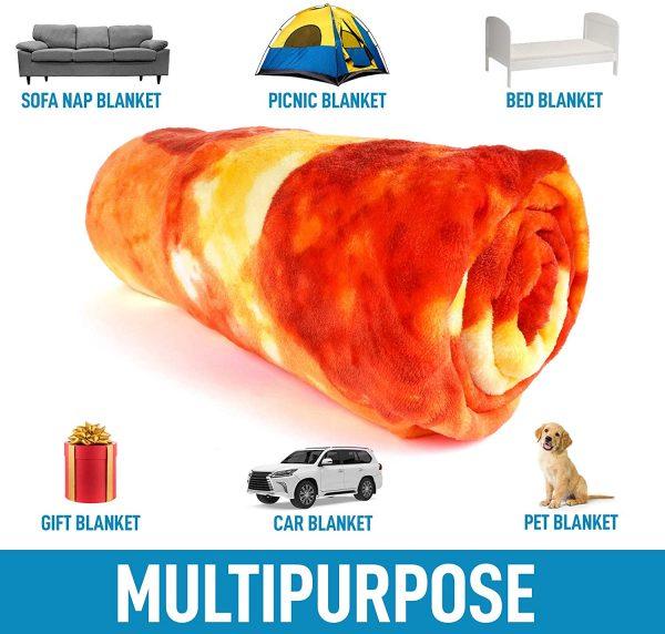 Multi Purpose Blanket Pizza Design