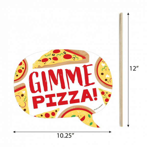 Pizza Photo Prop Size Guide